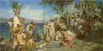 7893 Phryne at the Festival of Poseidon in Eleusin, 1889 Art Reproductions