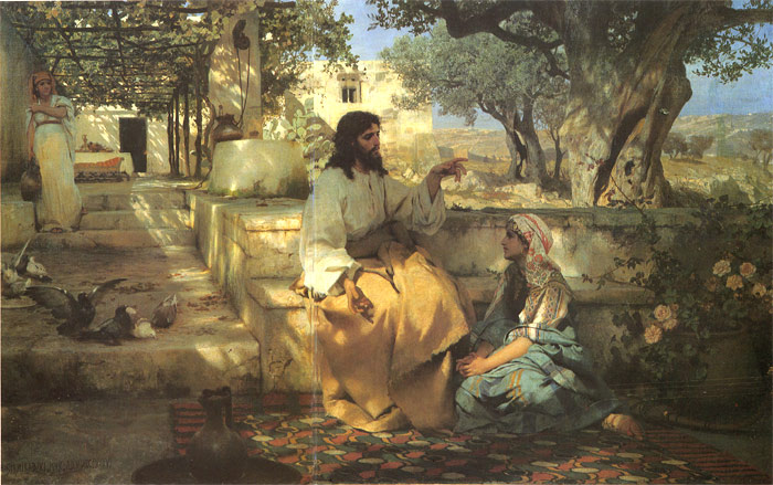 Christ in the House of Martha and Mary, 1886  Painting Reproductions
