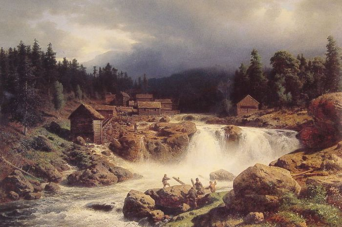 Norwegian Landscape, 1857  Painting Reproductions