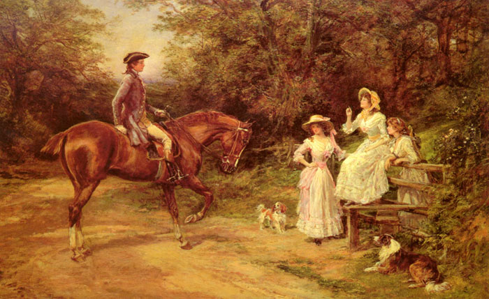 A Meeting By The Stile Hardy, Heywood Painting Reproductions