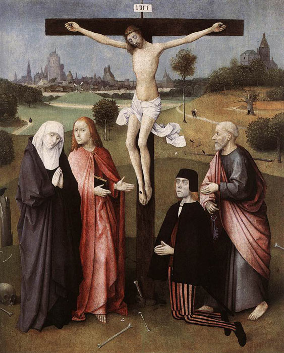 Crucifixion with a Donor, 1480-1485  Painting Reproductions