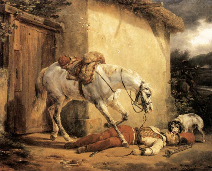 The Wounded Trumpeter, 1819  Painting Reproductions