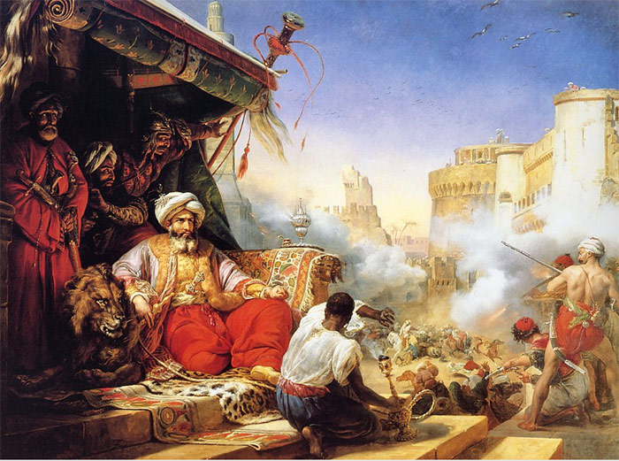 The Massacre of the Mameluks in Cairo, 1819  Painting Reproductions