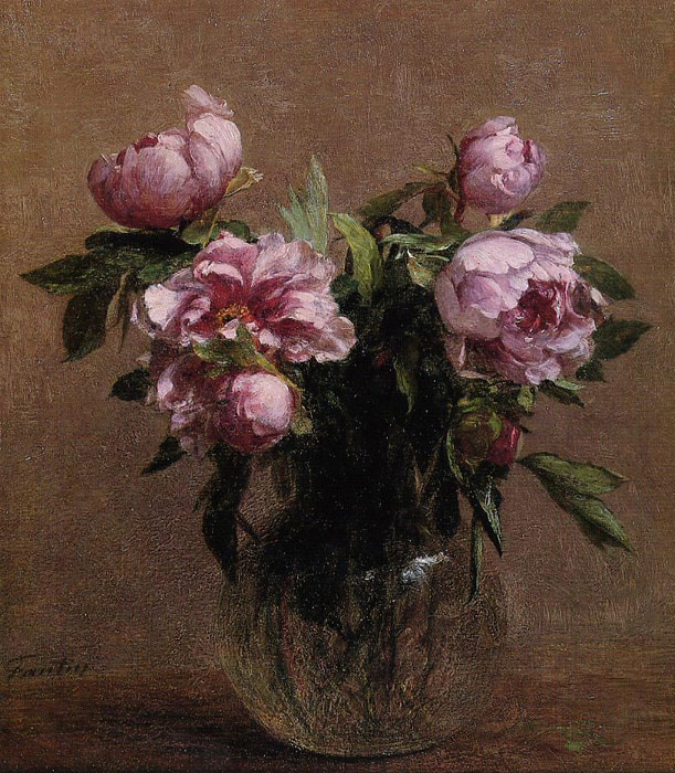 Oil Painting Reproduction Of Fantin Latour Vase Of Peonies