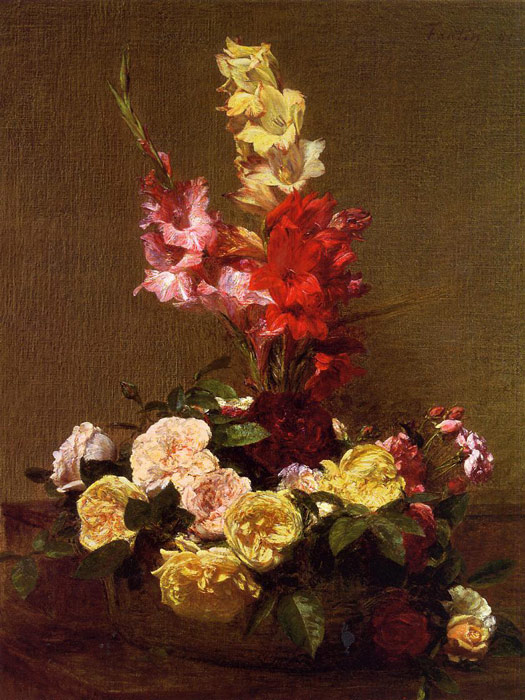Gladiolas and Roses, 1881  Painting Reproductions