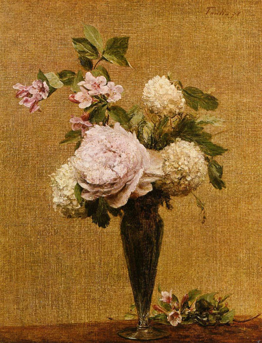 Vase of Peonies and Snowballs, 1878  Painting Reproductions