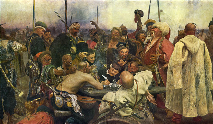 Cossacks Write a Letter to Turkish Sultan, (1880-1891) Repin, Iliya Efimovich Painting Reproductions