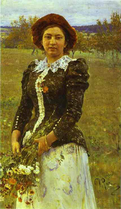 Portrait of V.I.Repin, 1892  Painting Reproductions