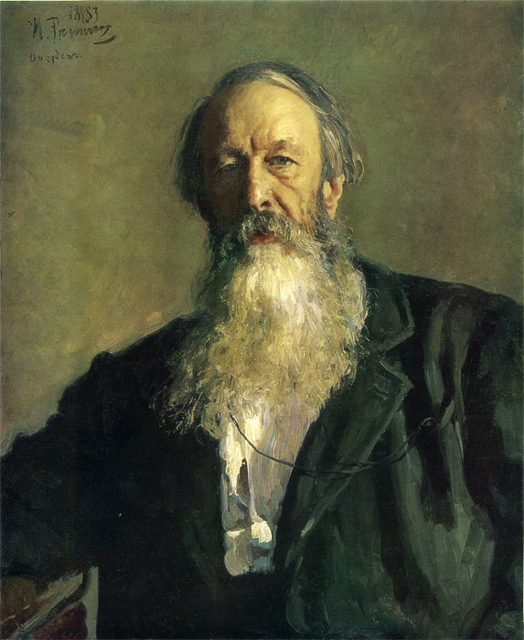 Portrait of  V. V. Stasov, 1883  Painting Reproductions