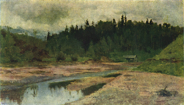 A Forest River, 1890  Painting Reproductions