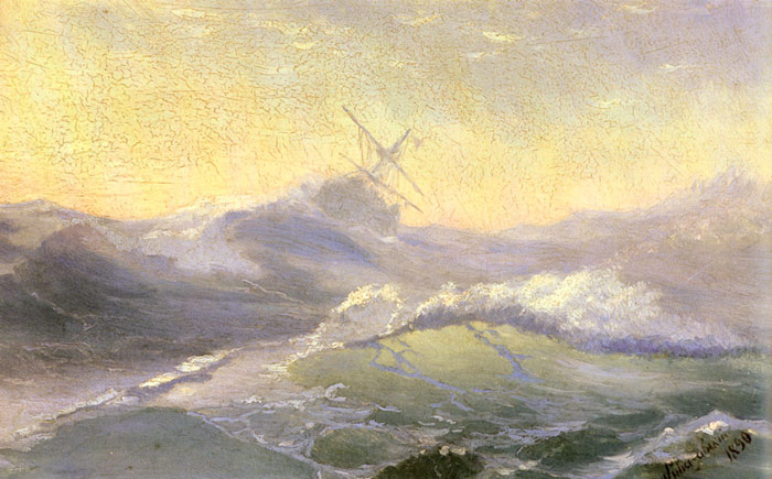 Bracing the Waves, 1890  Painting Reproductions
