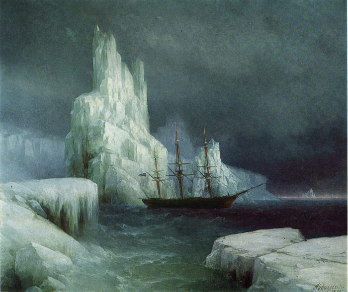 Icebergs, 1870  Painting Reproductions