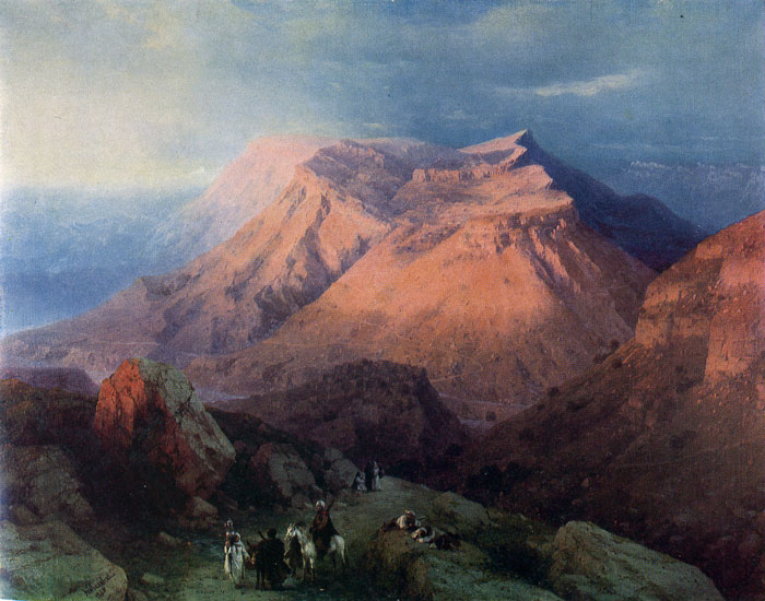 The Aul of Gunib, Daghestan, 1869  Painting Reproductions