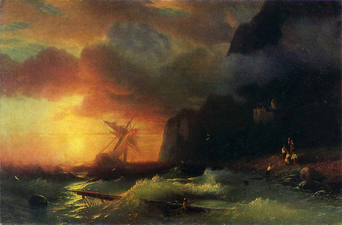 Shipwreck off Mount Athos, 1856  Painting Reproductions
