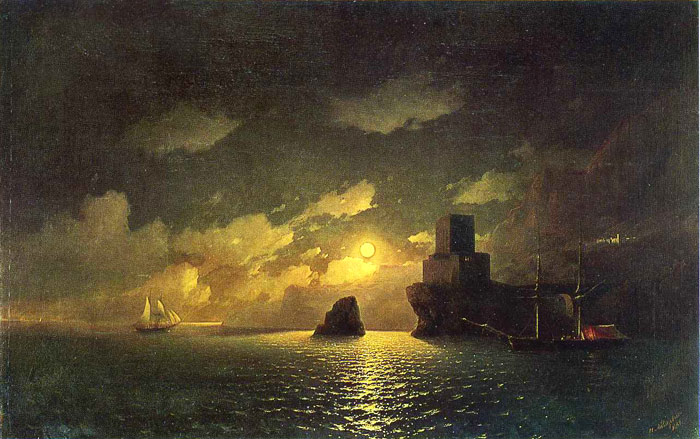 Moonlit Night, 1849  Painting Reproductions