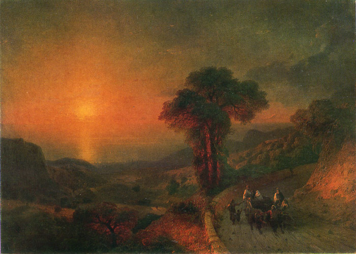 Sunset, 1864  Painting Reproductions