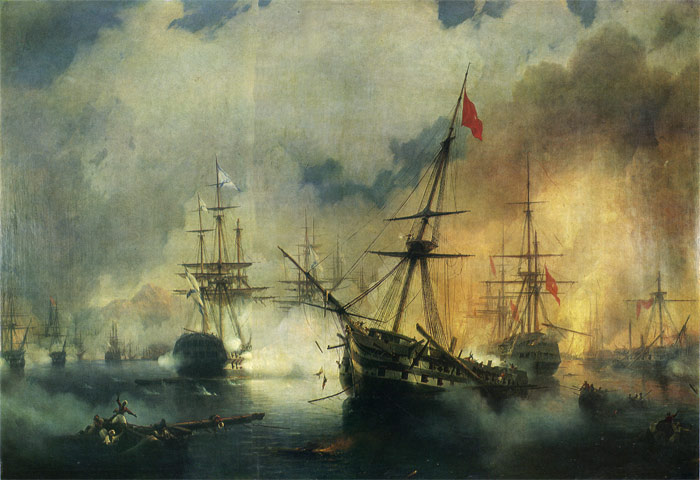 The Battle of Navarino, 1846  Painting Reproductions