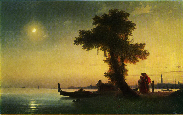 A bay Near Venice, 1842  Painting Reproductions