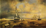 Aivazovsky,  Ivan Constantinovich The Kronstadt Roadstead, 1840 Art Reproductions