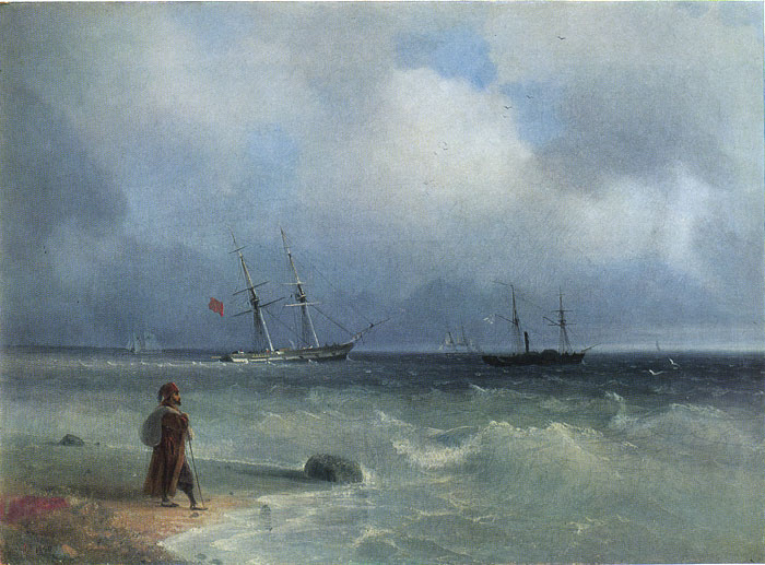 Seashore, 1840  Painting Reproductions