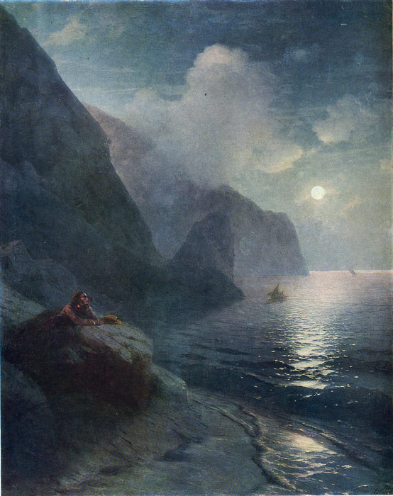 Pushkin by the cliffs in the Crimea, 1880  Painting Reproductions