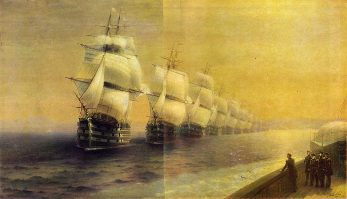 Reviewing the Black Sea Fleet, 1886  Painting Reproductions