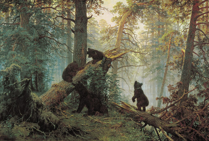 Morning in the Pine-tree Forest, 1889 Shishkin, Ivan Painting Reproductions