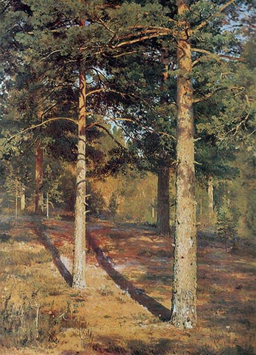 The Sun-lit Pines, 1886  Painting Reproductions