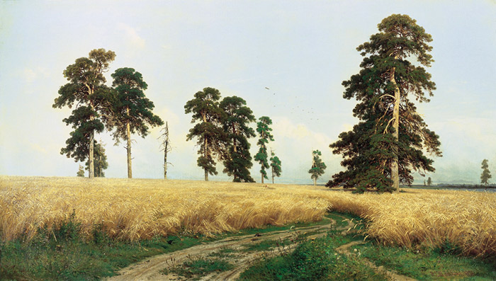 The Rye Field,  1878  Painting Reproductions