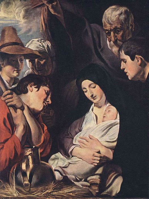 Adoration of the Shepherds Jordaens, Jacob Painting Reproductions