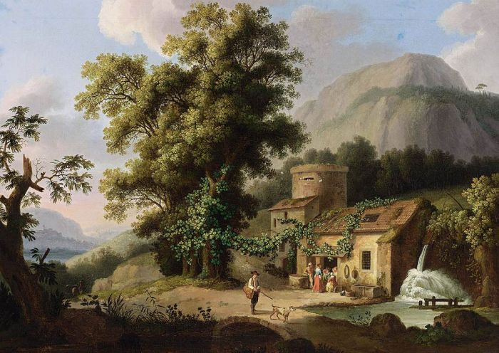 View of the Copper-Mill in Vietri, 1773  Painting Reproductions