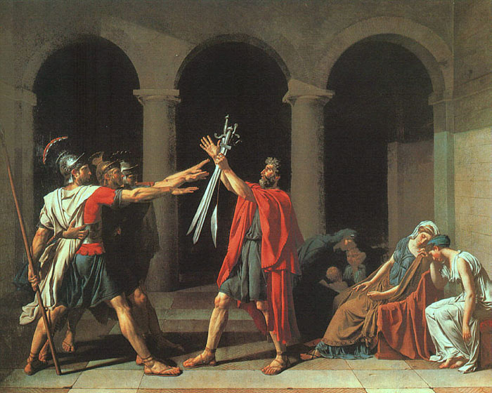 The Oath of the Horatii, 1784  Painting Reproductions