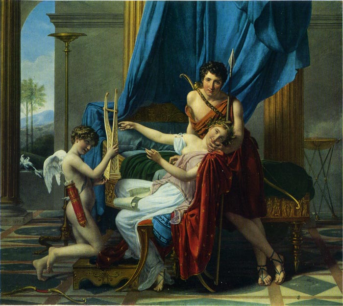 Sappho and Phaon, 1809  Painting Reproductions