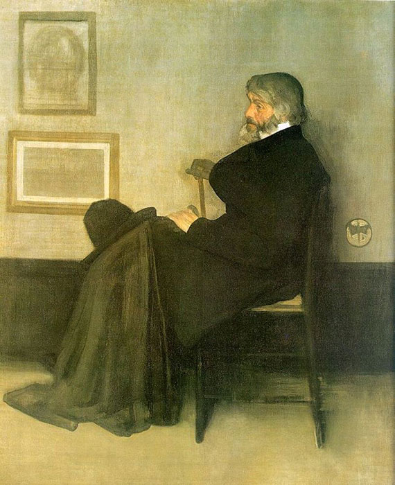 Arrangement in Gray and Black No.2: Portrait of Thomas Carlyle  Painting Reproductions