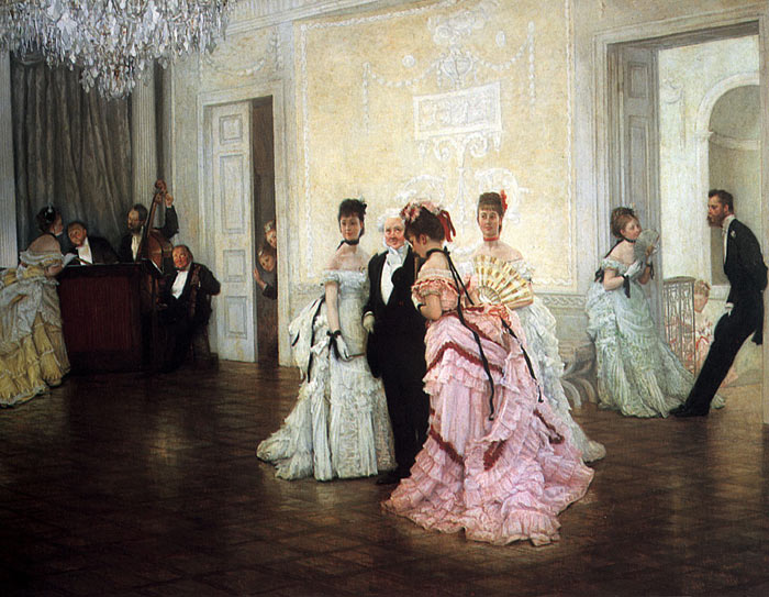 Too Early, 1873 Tissot, James Jacques Joseph Painting Reproductions