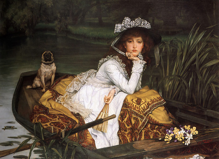 Young Lady in a Boat, 1870  Painting Reproductions