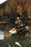 Tissot, James Jacques Joseph Autumn on the Thames, c.1871-1872 Art Reproductions