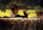 Tissot, James Jacques Joseph Reading a Story, c.1878-1879 Art Reproductions