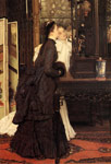 Tissot, James Jacques Joseph Young Ladies Looking at Japanese Objects, 1869 Art Reproductions