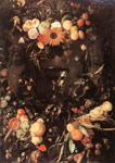 Heem, Jan Davisz de Fruit and Flower Still-life, 1650 Art Reproductions