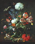 Heem, Jan Davisz de Vase of Flowers , 1645 Art Reproductions