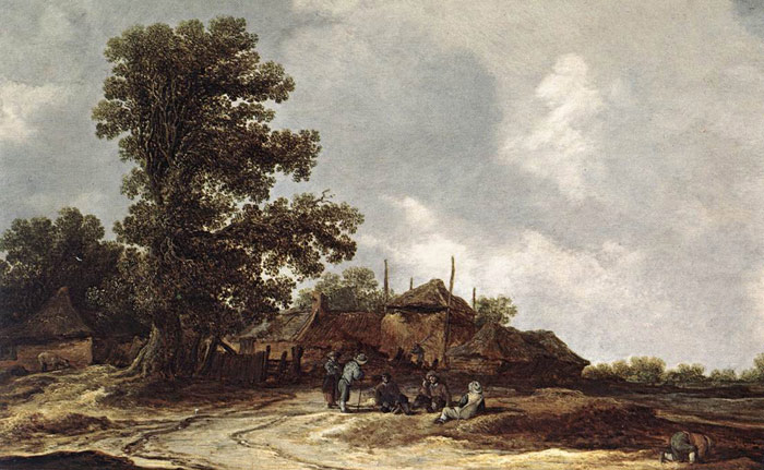 Farmyard with Haystack  Painting Reproductions