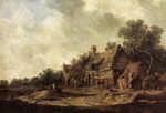 Goyen, Jan van Peasant Huts with a Sweep Well, 1633 Art Reproductions