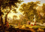 Huysum, Jan van A classical landscape with the Worship of Bacchus Art Reproductions