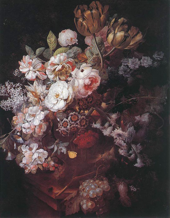 Vase with Flowers, 1726  Painting Reproductions