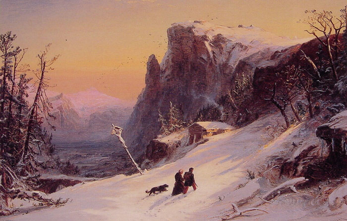 Winter in Switzerland, 1861  Painting Reproductions