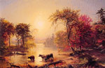 Cropsey, Jasper Francis Autumn in America, 1860 Art Reproductions