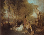 Watteau, Jean- Antone The Festival of Love (The Pleasures of Love), c.1719 Art Reproductions
