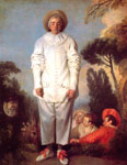 Watteau, Jean- Antone Pierrot Art Reproductions