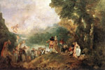 Watteau, Jean- Antone The Embarkation for Cythera, 1717 Art Reproductions